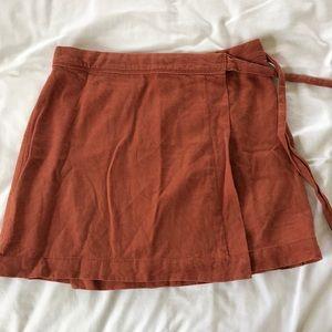 Abercrombie & Fitch Wrap Around Linen Skirt